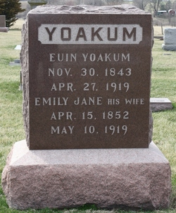 Emily Jane <I>Thomas</I> Yoakum