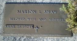 Marion L. <I>Kraft</I> Shaw