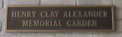 Henry Clay Alexander Memorial Garden