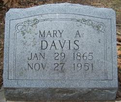 Mary A <I>Dean</I> Davis