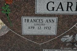Frances Ann <I>Longino</I> Garrett