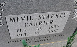 "Mevil ""Melba"" <I>Starkey</I> Carrier"