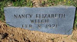 """Nancy Elizabeth """"Sally"""" <I>Pugh</I> Welch"""