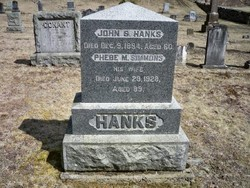 Phebe M. <I>Simmons</I> Hanks