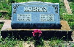 Fannie Inez <I>Strong</I> Carson