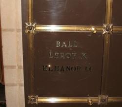 Eleanor M <I>Van Fossen</I> Ball