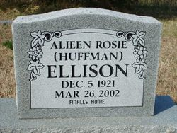 Aileen Rosie <I>Huffman</I> Ellison