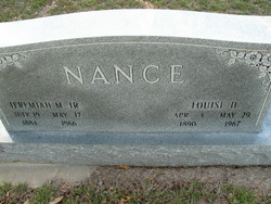 Mary Louise <I>Hutchison</I> Nance