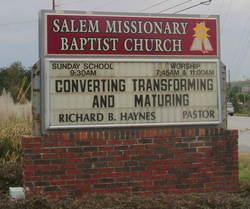 Salem Missionary Baptist Church Cemetery