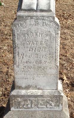 """Sarah Ann """"Sallie"""" <I>Holmes</I> Yates"""