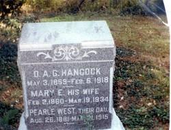 """Daniel Ayers Gilbert """"D.A.G."""" Hancock"""