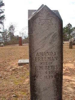 Amanda <I>Freeman</I> Betts