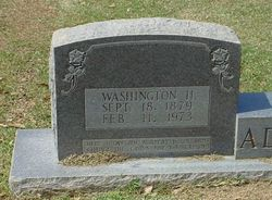 "Washington Henry ""Wash"" Adcock"
