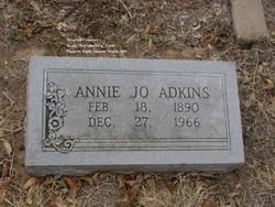 Annie Jo <I>Warren</I> Adkins