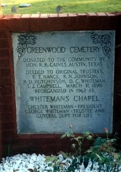 Whitemans Chapel Cemetery