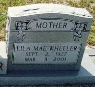 Lila Mae <I>Scroggins</I> Wheeler