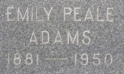 Emily <I>Peale</I> Adams