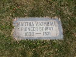 Martha Jane <I>Vance</I> Kimball