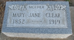 Mary Jane <I>Cripe</I> Clear