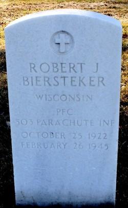 PFC Robert J Biersteker