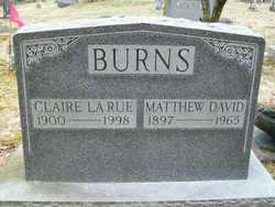 Claire LaRue <I>Johnston</I> Burns