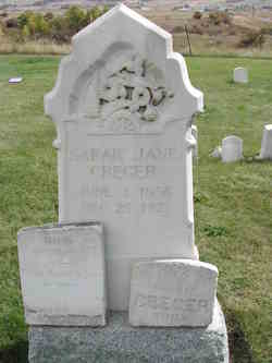 Sarah Jane <I>Custer</I> Creger