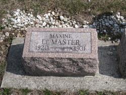 Maxine Elizabeth LeMasters