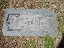 "Willie R ""Bill"" Abraham"