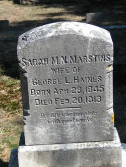 Sarah M.N. <I>Marstins</I> Haines