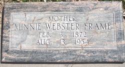 Minnie <I>Webster</I> Frame