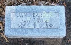 Jane Harriett <I>Stoddard</I> Barden