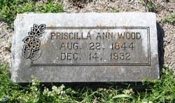 Priscilla Ann Elizabeth <I>Whittington</I> Wood