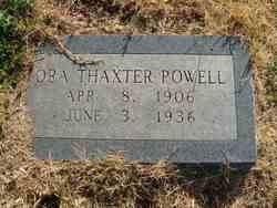 Ora Thaxter <I>Crew</I> Powell
