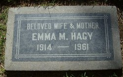 Emma M <I>Dahl</I> Hagy