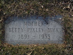 "Cora Elizabeth ""Betty"" <I>Pixley</I> Buck"