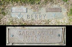 Sadie Ruth <I>Swanger</I> Berry