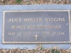 Alice Ellwood <I>Holler</I> Wiggins