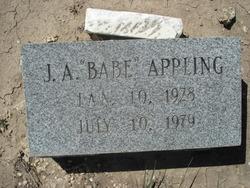 "John Albert ""J.A./Babe"" Appling"