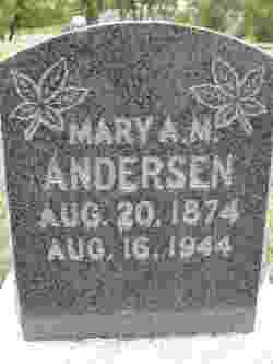 Mary Amanda <I>Marler</I> Andersen