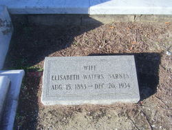 "Elisabeth ""Lizzie"" <I>Waters</I> Barnes"