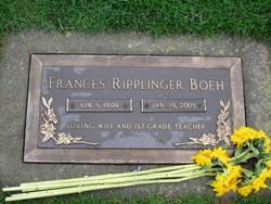 Frances <I>Ripplinger</I> Boeh