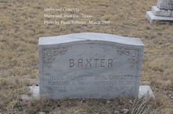Opal Christine <I>Robertson</I> Baxter