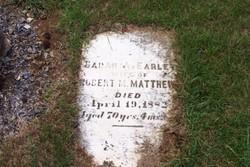 Sarah A. <I>Earley</I> Matthews