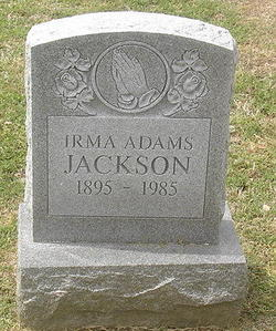 Irma <I>Adams</I> Jackson
