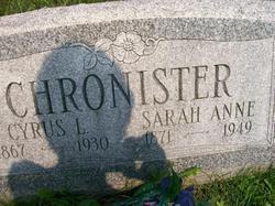 Sarah Anne <I>Wilson</I> Chronister
