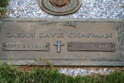 Sarah <I>Davis</I> Chapman