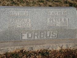 "Martha Ann ""Mattie"" <I>Walker</I> Forbus"