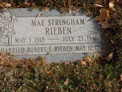 Mae <I>Stringham</I> Rieben