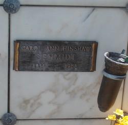 Carol Ann <I>Hinshaw</I> Schmidt