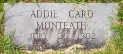 Addie <I>Card</I> Monteath